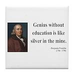 Benjamin Franklin 12 Tile Coaster