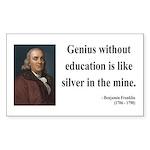 Benjamin Franklin 12 Rectangle Sticker