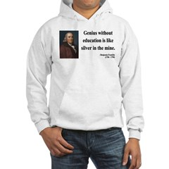 Benjamin Franklin 12 Hooded Sweatshirt