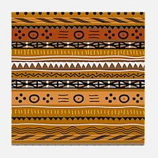 Shango Tribal Tile Coaster