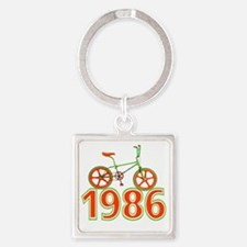 Funny 1986 Square Keychain