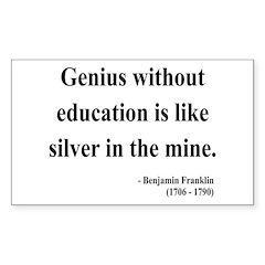 Benjamin Franklin 12 Rectangle Decal