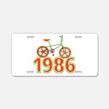 Retro 1986 BMX Bike Aluminum License Plate