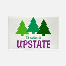I'D RATHER BE UPSTATE Rectangle Magnet