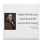 Benjamin Franklin 13 Tile Coaster