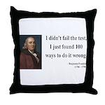 Benjamin Franklin 13 Throw Pillow