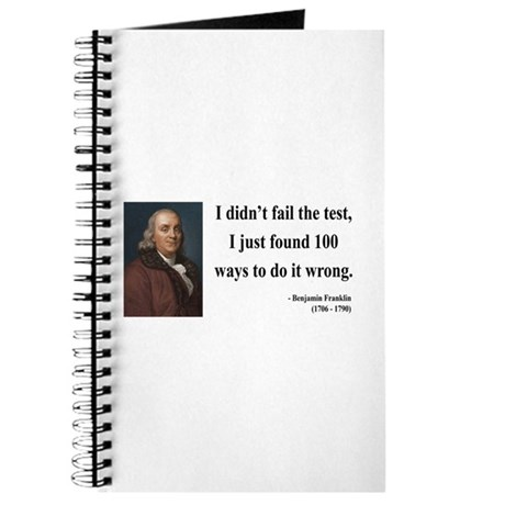 Benjamin Franklin 13 Journal