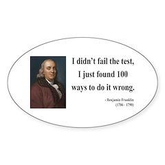 Benjamin Franklin 13 Oval Decal