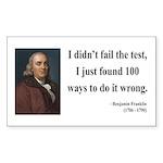 Benjamin Franklin 13 Rectangle Sticker