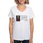Benjamin Franklin 13 Women's V-Neck T-Shirt
