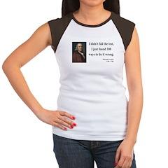 Benjamin Franklin 13 Women's Cap Sleeve T-Shirt