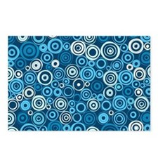 Blue Circles Postcards (Package of 8)
