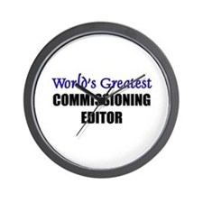 Worlds Greatest COMMISSIONING EDITOR Wall Clock