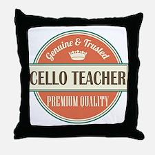 cello teacher vintage logo Throw Pillow