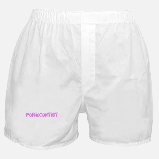 Periodontist Pink Flower Design Boxer Shorts