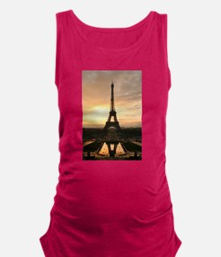 Eiffel Tower Paris Maternity Tank Top