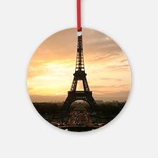 Eiffel Tower Paris Round Ornament