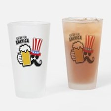 Drink Up America Drinking Glass