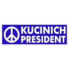 Peace: Kucinich for President sticker