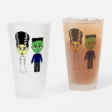 Bride of Frankenstein and Monster Drinking Glass