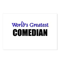 Worlds Greatest COMEDIAN Postcards (Package of 8)