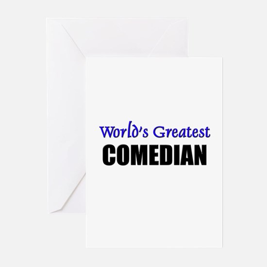 Worlds Greatest COMEDIAN Greeting Cards (Pk of 10)