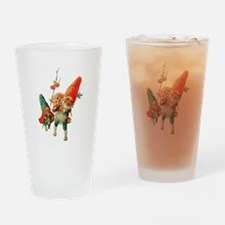 Gnomes with a Baby Pig Drinking Glass