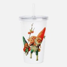 Gnomes with a Baby Pig Acrylic Double-wall Tumbler
