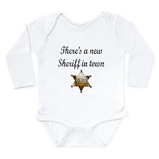 Funny Sheriff Long Sleeve Infant Bodysuit