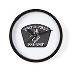 Seattle Police K-9 Unit Wall Clock