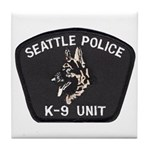 Seattle Police K-9 Unit Tile Coaster