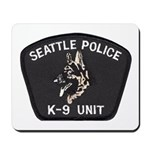Seattle Police K-9 Unit Mousepad