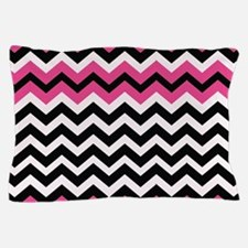 Hot Pink Black Bliss Chevron Pillow Case