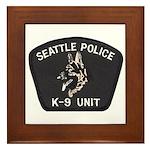 Seattle Police K-9 Unit Framed Tile