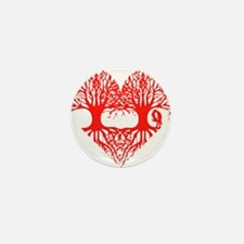 valentine's day tree heart love roots Mini Button