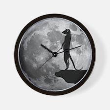 meerkat erdmännchen mond moon Wall Clock