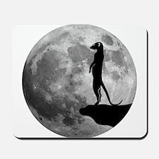 meerkat erdmännchen mond moon Mousepad