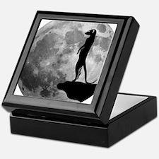 meerkat erdmännchen mond moon Keepsake Box