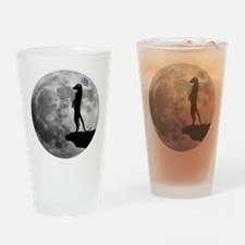 meerkat erdmännchen mond moon Drinking Glass