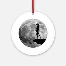 meerkat erdmännchen mond moon Round Ornament