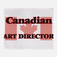 Canadian Art Director Throw Blanket
