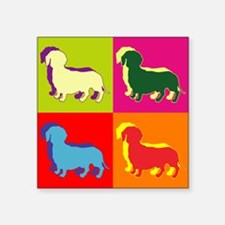 "Cute Dog enthusiast Square Sticker 3"" x 3"""