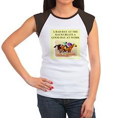 horse racing gifts t-shirts Women's Cap Sleeve T-S