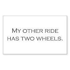 My Othr Ride - Black on White Decal