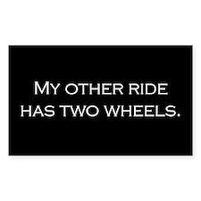 My Othr Ride - White on Black Decal