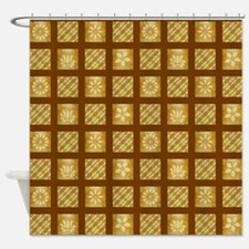FLORAL PLAID Shower Curtain