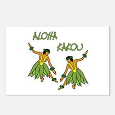 Hula dancers Postcards (Package of 8)