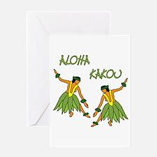Hula dancers Greeting Card
