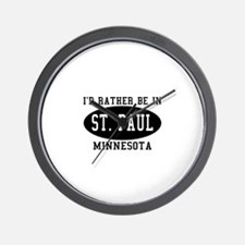 I'd Rather Be in St. Paul, Mi Wall Clock