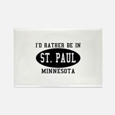 I'd Rather Be in St. Paul, Mi Rectangle Magnet